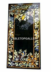 4and039x2and039 Marble Dining Table Top Multi Stone Birds Inlay Art Restaurant Decors B041