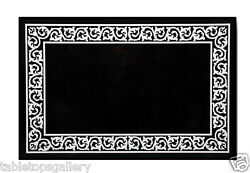 4and039x2and039 Marble Dining Coffee Table Top Rare Marquetry Inlaid Mosaic Decor Art H653