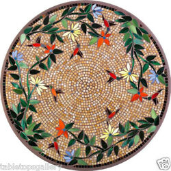 2and039 Semi Precious Mosaic Cubes Inlay Marble Coffee Table Top Interior Decor H1995