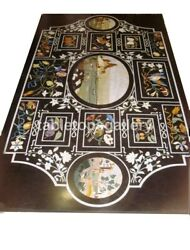 4and039x3and039 Marble Dining Table Tops Multi Floral And Birds Inlay Restaurant Decor B672