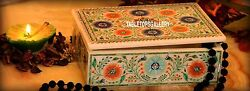 6x4x2and039and039 White Marble Jewelry Box Inlaid Lapis Stone Marquetry Arts Decor H3668