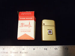 Nos 1960and039s Gm Mark Of Excellence Bowers Gold Aluminum Cigarette Lighter Chevy