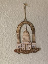1996 First Edition State Of Texas Capitol Ornament Only / Missing Box And Pamphlet