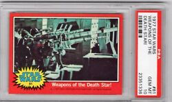 1977 Topps Star Wars 81 Weapons Of The Death Star Psa 10 Red Series 2 Hf