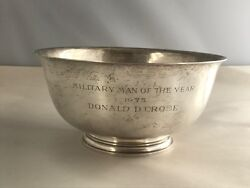 Vintage And Co. Sterling Silver Military Man Of The Year 1973 Bowl