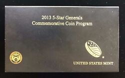 2013 Us Mint 5-star Generals Commemorative 3-coin Proof Set In Box And Coa
