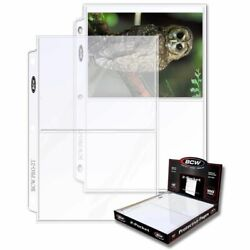 1 Case Of 1000 Bcw 2-pocket Photo Pages Size - 5 7/16 X 7 1/8