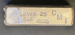 Vintage Cmi Uss Constitution 25oz .999 Fine Silver Pour Bar, Sealed With Serial