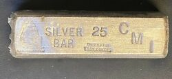 Vintage Cmi Uss Constitution 25oz .999 Fine Silver Pour Bar Sealed With Serial