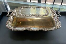 Vintage Sterling Silver Floral Motif Butter Dish With Cover By Camusso, 9 X 7