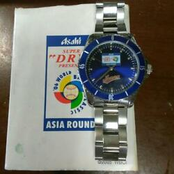 06 World Baseball Classic Asia Round Limited Stainless Steel Silver Blue Watch