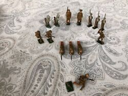 Lead Soldiers Lot Of 14 Japan Sonsco Pre-wwii 1930s Vintage Army Military Nice