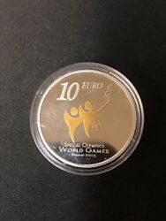 2003 Ireland Silver Proof 10 Euro Special Olympics World Summer Games In Ogp Box