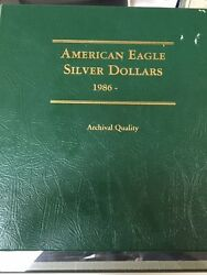 1986-2009 American Eagle Silver Dollar Collection 24 Ase Coins Total