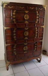 Antique Korean Three-story Chest From Kyong-gi Region - 19th Century
