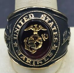 Vintage Men's United States Marines Costume Jewelry Ring Size 9