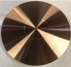 Turntable Platter Mat 300mm X 5mm 🇺🇸custom Orders Welcome Solid Copper