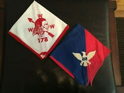 Vintage Order Of The Arrow Www 178 Indian And Bird 218 Boy Scouts Neckerchief Lot