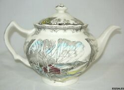 Johnson Brothers Friendly Village Winter Sugar Maples Teapot Made In England