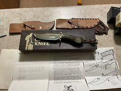 Vintage Buck Knives Custom Shop 905 Mountain Man Bowie Knife Stag