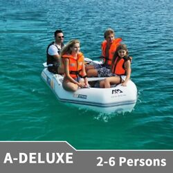 Inflatable Pvc Boat 3-6 Persons Lightweight Rowing Rubber Water Sports Canoe