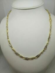 Gold Necklace 18 Carats Women's Chain Pipe 2 Colours 20 1/2in 19 Gr Solid 18k