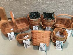 Longaberger Lot Of Baskets Signed By Dave Longaberger And Tami And More Made In Usa
