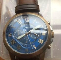 Fossil Blue Dial Analog Roman Index Leather Belt Men's Watch