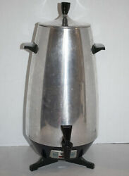 Mcm Mirro Matic Deluxe 35 Cup Electric Coffee Percolator Urn M-0476 Footed Vtg