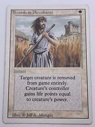 Magic The Gathering💎swords To Plowshares💎1994 Deck Master - Revised Edi🌟-mtg