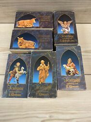 8 Authentic Fontanini Heirloom Nativity 5 Collection Pieces By Roman