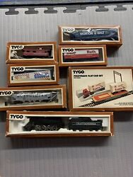 Vintage Tyco Ho Train Set With Packages 7+ Trains And Accessories