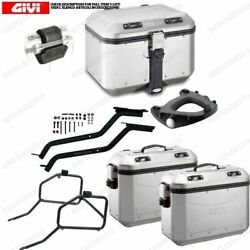 Set Givi Bauletto Dlm46a And Suitcases Dlm36a Yamaha 700 Tracer 2015-2016