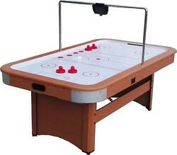 Air Hockey Game Table 7ft X 4ft W/ Overhead Scoreboard Perfect For The Game Room