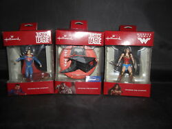 Hallmark Christmas Tree Ornament Justice League-superman-wonder Woman