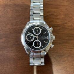 Omega Chronograph Speedmaster Menand039s Watch Black Dial Silver Panda Stainless