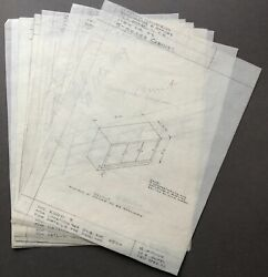 Mid Century Modern / 9 Technical Drawings From Early 1940s Of Furniture For La
