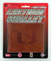 Miami Hurricanes The U Embossed Leather Billfold Wallet
