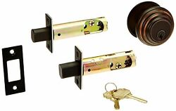Solid Brass Single Cylinder Low Profile Deadbolt Oil Rubbed Bronze With 2...