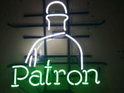 Tequila Patron Neon Light Sign 24x20 Lamp Poster Real Glass Beer Bar
