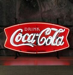 New Drink Coca Cola Neon Light Sign 24x20 Lamp Poster Real Glass Beer Bar