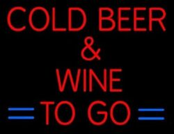 New Cold Beer Wing To Go Beer Man Cave Neon Light Sign 32x24