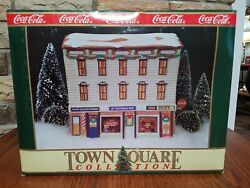 Town Square Coca Cola Christmas Village Luncheonette Ice Cream And Barber Shop