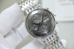 Junghans Meister Chronoscope Ref.027 432.45 Menand039s Automatic Watch Black Silver