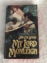 My Lord Monleigh By Jan Cox Speas Vintage Romance Published 1978