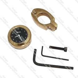 For Royal Enfield Black Dial Brass Handle Watch With Clamp New
