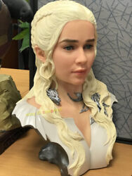 Game Of Thrones 1/1.5 Scale Daenerys Targaryen Bust Statue Limited99 In Stock