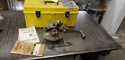Victaulic Ve-26c Roll Grooving Tool 2-6 Copper Pipe Tubing W/crank In Box Lot8