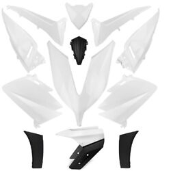 Set 14 Fairings Car Body Yamaha T-max 530 2015-2016 White Competition