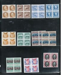 Usa 112p3 - 122p3 Extra Fine Plate Proof Block All On India Paper